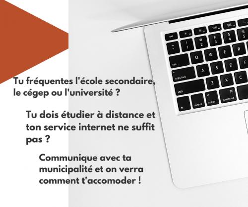 Aide aux étudiantes et étudiants – accès wi-fi
