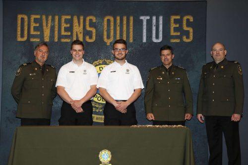 Merci aux cadets de la Sûreté du Québec