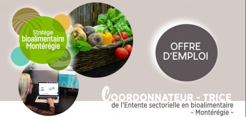 Entente sectorielle en bioalimentaire -Montérégie