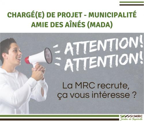 La MRC recrute …